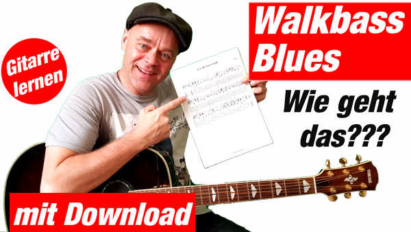 Walking bass Blues Blues mit walking bass Walk bass gitarre