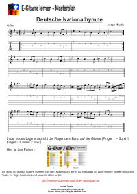 Deutsche Nationalhymne Noten C Dur